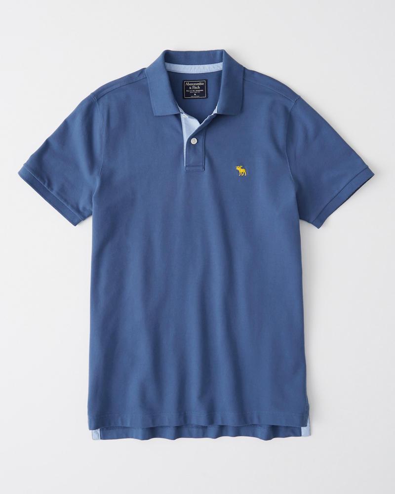 4f0645acaf Homme Polo stretch à emblème | Homme Tops | Abercrombie.com