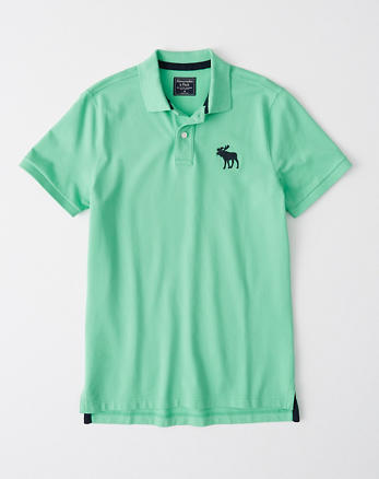 8c4eeded3a Exploded Icon Stretch Polo, GREEN