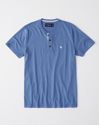 a83a722e Mens Henley T-Shirts | Abercrombie & Fitch