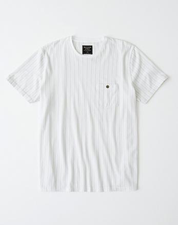 efc0fdef1434 Striped Button-Pocket Crew Tee, WHITE STRIPE