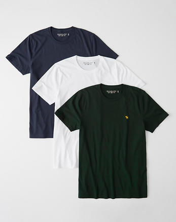 aa5950967c068 3-Pack Icon Crew Tee, GREEN - WHITE - NAVY BLUE