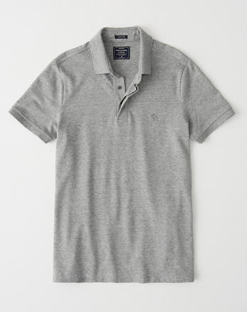 e00fd697b90b Concealed Placket Polo, HEATHER GREY