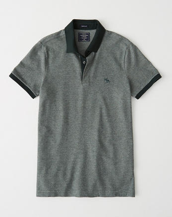 d5f37930a Concealed Placket Polo, HEATHER GREEN