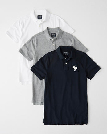 ANF3-Pack Stretch Exploded Icon Polo