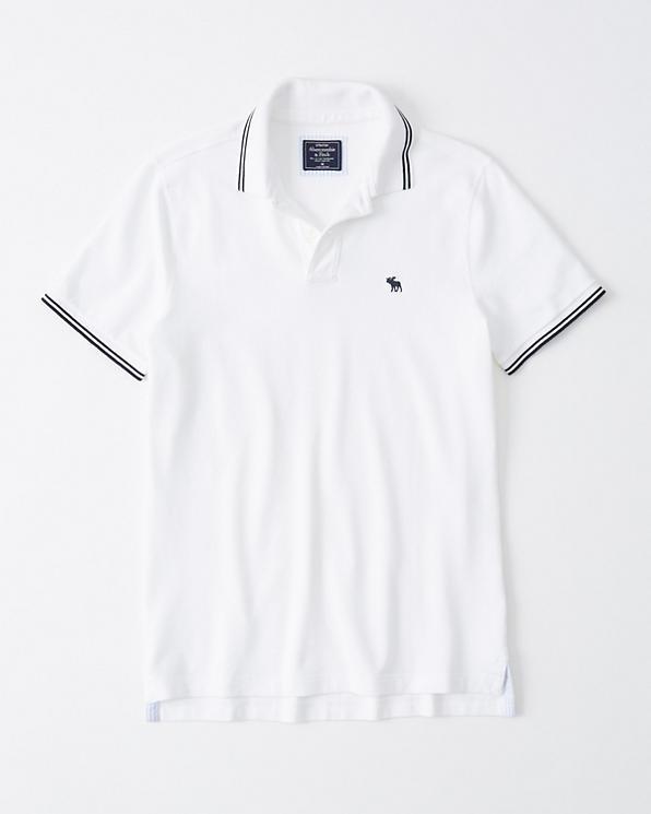 Bestbewertet authentisch am besten auswählen attraktive Mode Herren Stretch-Polo mit Symbol | Herren Oberteile ...