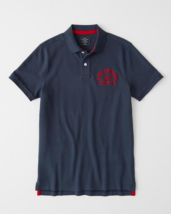 5e719b297d Mens Stretch Logo Polo | Mens Tops | Abercrombie.com