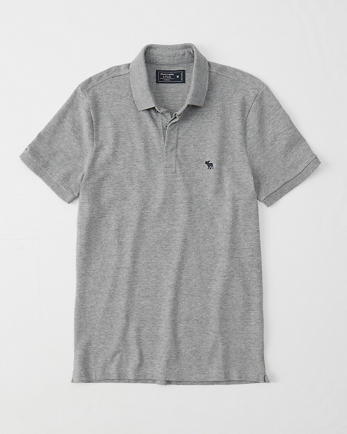 ANFConcealed Placket Stretch Icon Polo