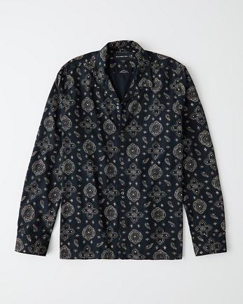 ANFResort Collar RSVP Button-Up Shirt