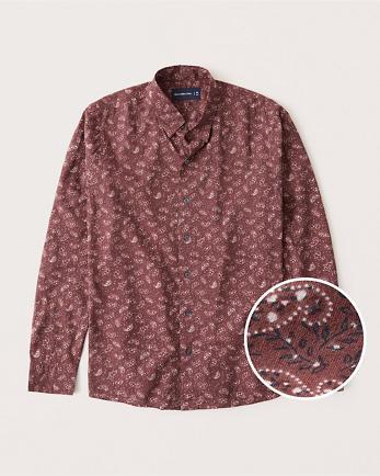 ANFLong-Sleeve Button-Up Shirt
