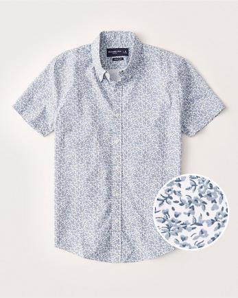ANFSuper Slim Short-Sleeve Button-Up Shirt