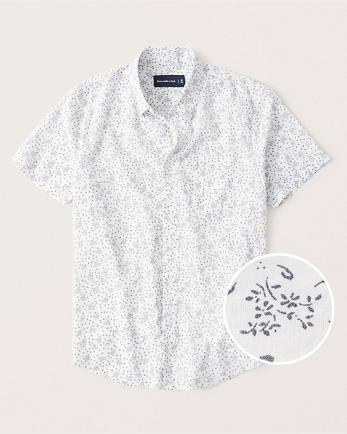 ANFShort-Sleeve Button-Up Shirt
