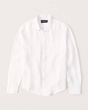 ANFLinen Button-Up Shirt