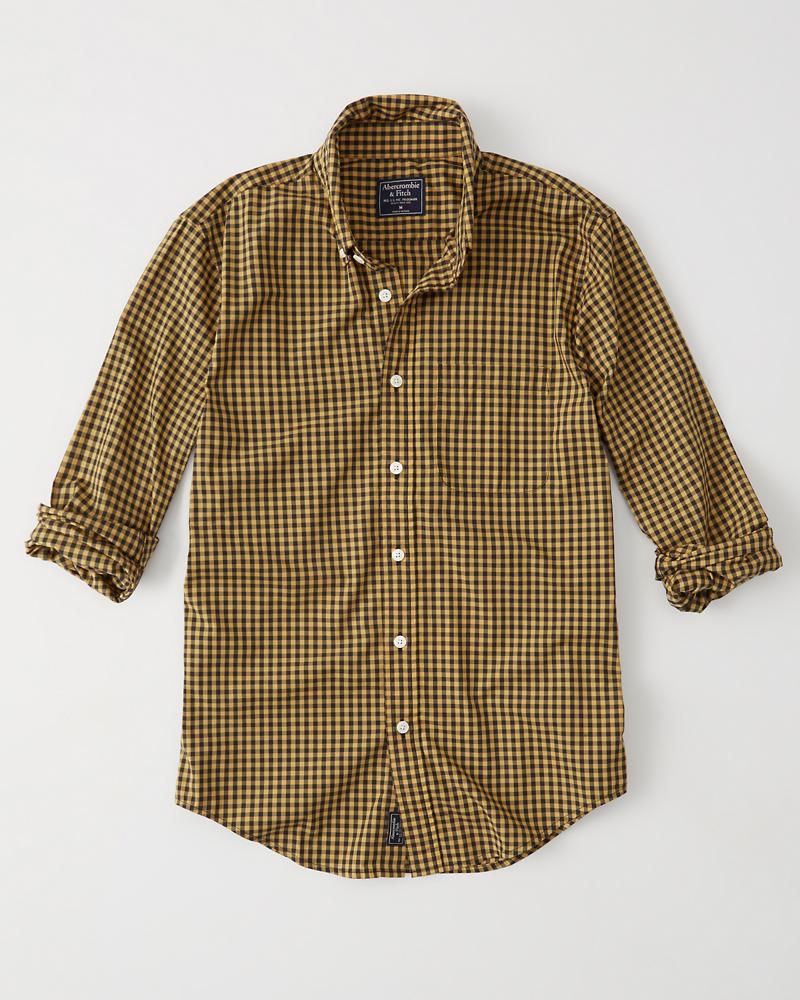 Mens Poplin Shirt Mens Tops Abercrombie