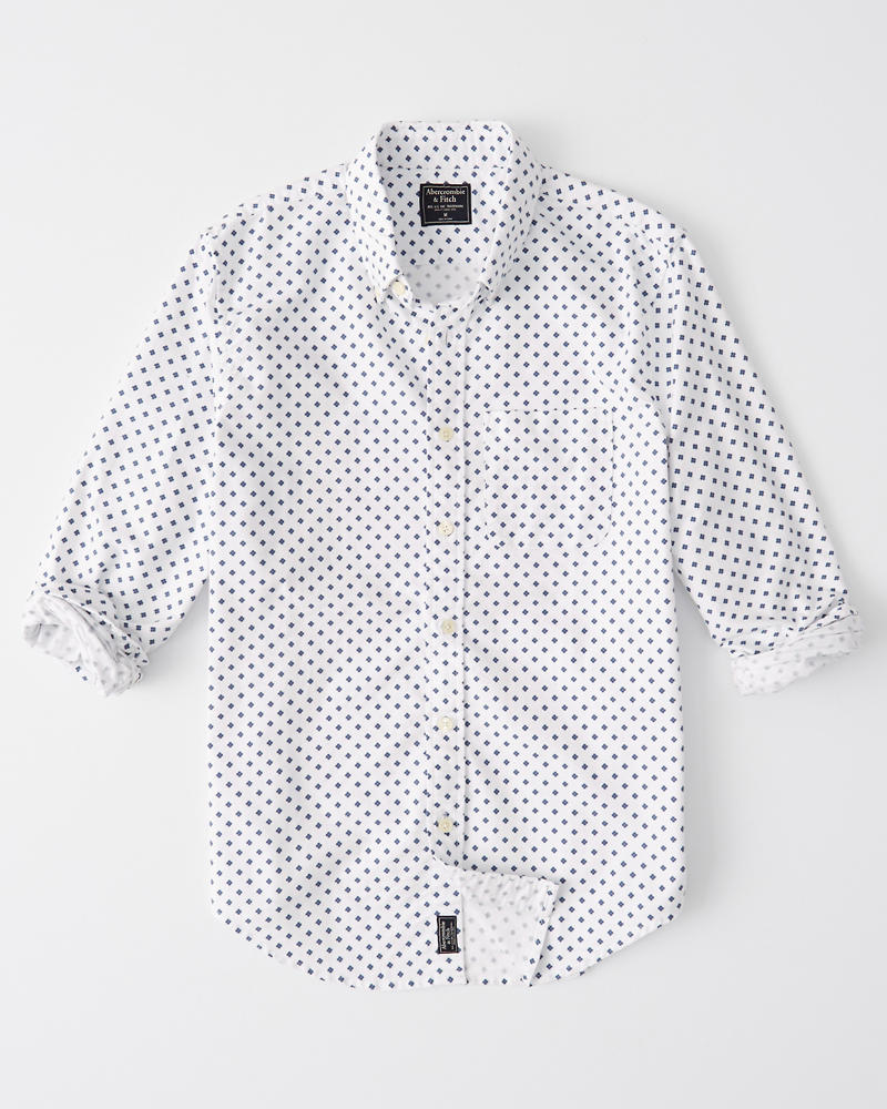 Printed Oxford Shirt by Abercrombie & Fitch