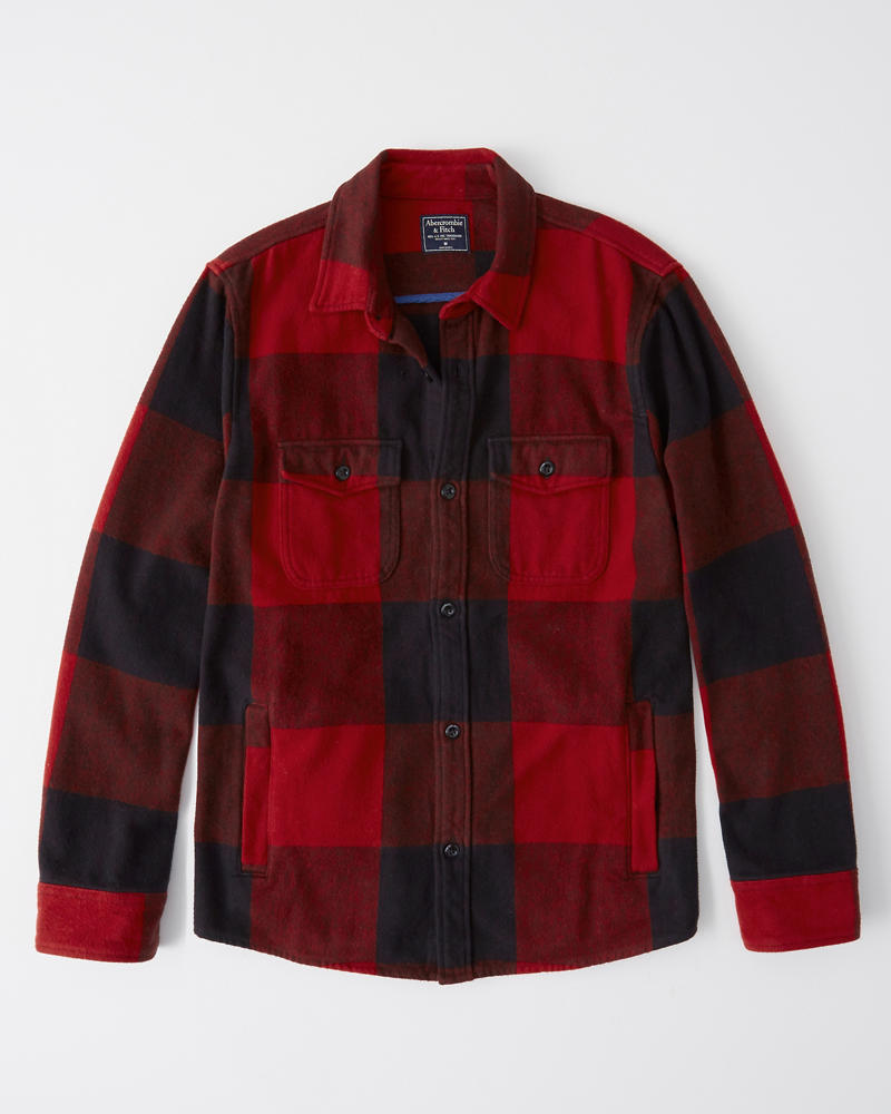 Mens Flannel Shirt Jacket Mens Clearance Abercrombie Com