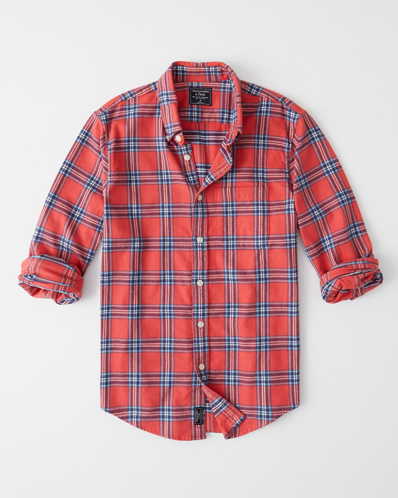 Mens Spring Flannel Shirt Mens Clearance Abercrombie Com