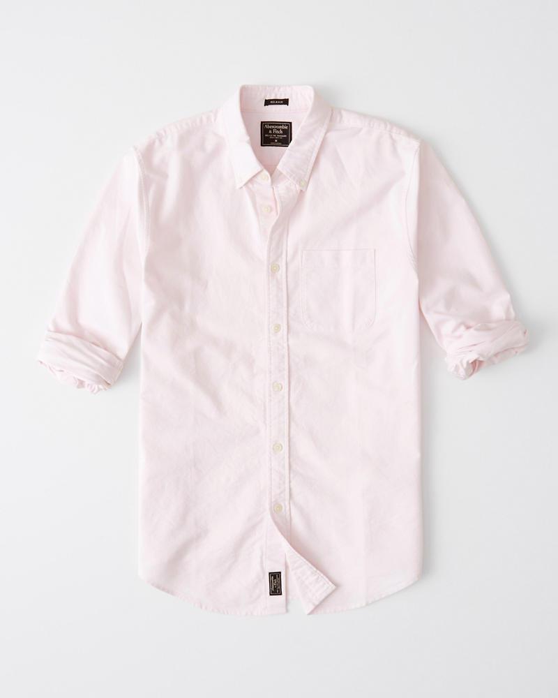 97e69d042 Mens Relaxed Oxford Shirt | Mens Sale | Abercrombie.com