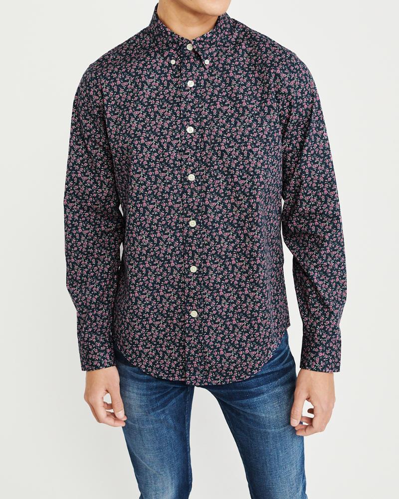a0cdefe6a5 Mens Print Poplin Shirt | Mens Clearance | Abercrombie.com