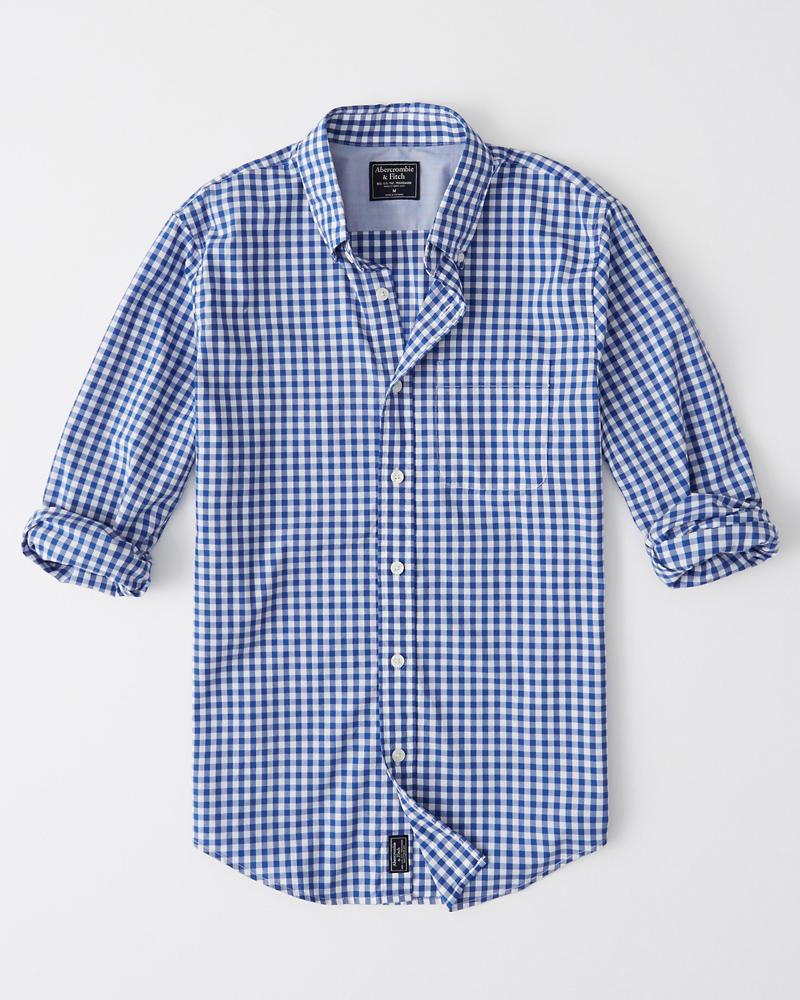 4eca942138 Hombre Camisa de poplín a cuadros guinga