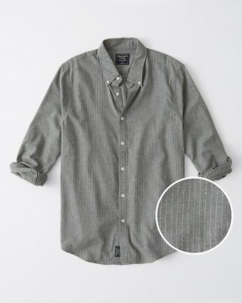 ANFBrushed Oxford Shirt