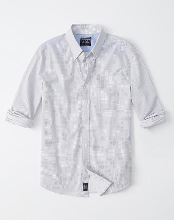 575fe129918 Print Poplin Shirt, WHITE PATTERN