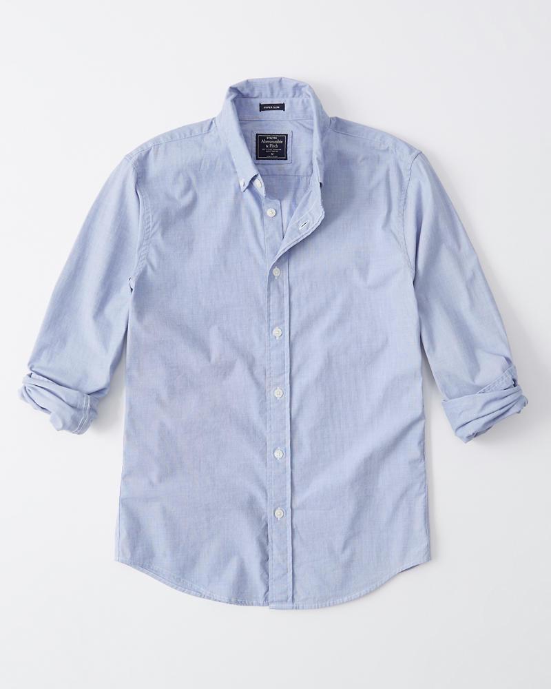 4931e96243 Uomo Camicia in popeline super slim | Uomo Topwear | Abercrombie.com