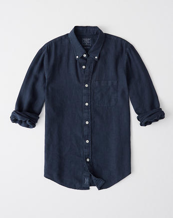 6f21450b8 Mens Washed Oxford Shirts | Abercrombie & Fitch