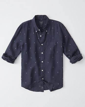 97a80295f Mens Shirts. New! Button-Up Linen Shirt