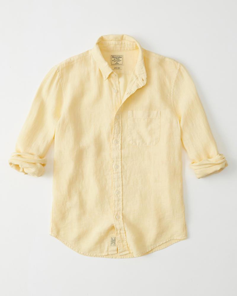 2482d20e47106 Hombre Camisa de lino
