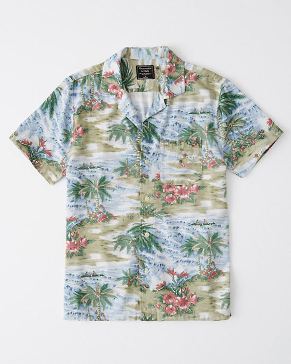 d50cff5591388 Mens Vacation Button-Up Shirt   Mens Tops   Abercrombie.com