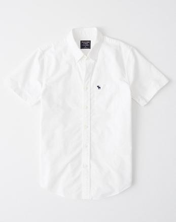 009428890a Camisa oxford de mangas cortas con ícono