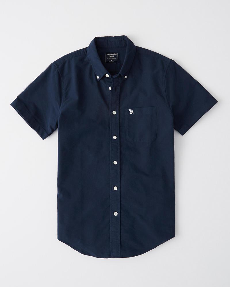 9bd12df8c0c Mens Short-Sleeve Icon Oxford Shirt
