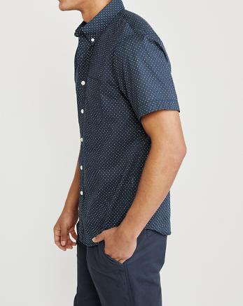 Maat 44 Overhemd.Heren Overhemden Tops Abercrombie Com
