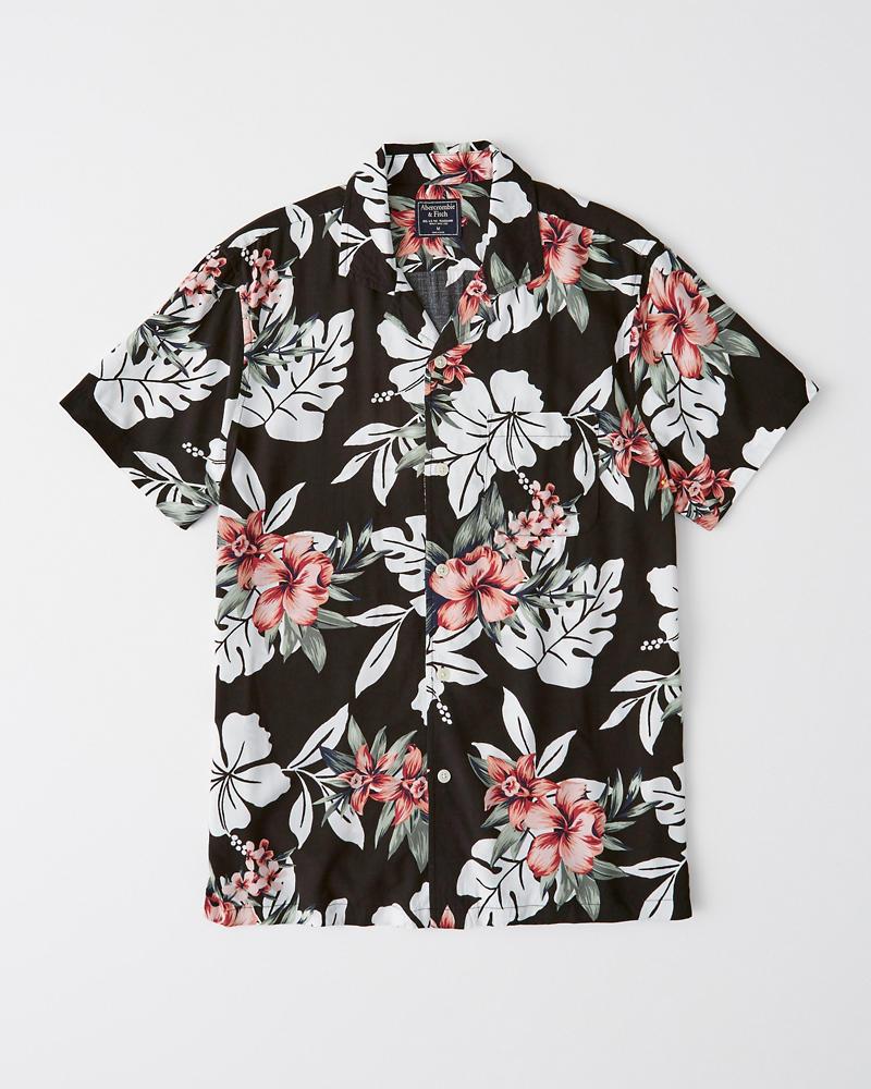 e22d23a969 Mens Vacation Button-Up Shirt | Mens Tops | Abercrombie.com