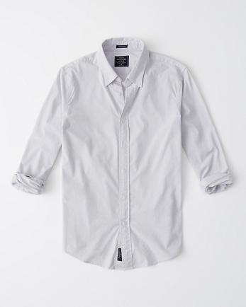 ANFLong-Sleeve Poplin Shirt