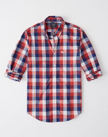 Camisa de popelina de cuadros con icono e2d902f4b9817