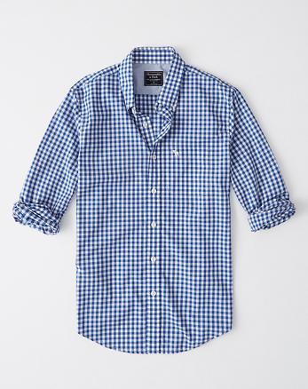 Camisa de popelina de cuadros con icono c64ebd5a32b68