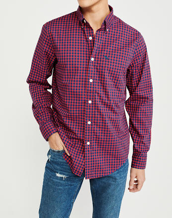 77ab41cb94 ... Camisa de poplín con ícono de guinga