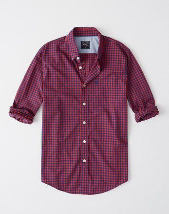Camisa de popelina de cuadros con icono afedd0d1d3f2d