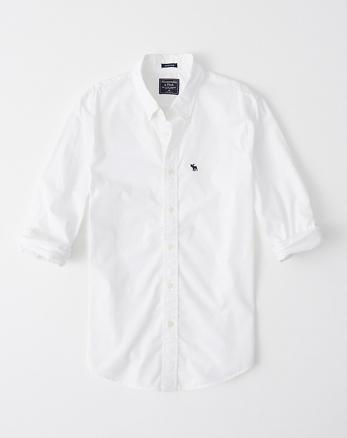 ab495c4cb1 Camisa de popelina super slim con icono