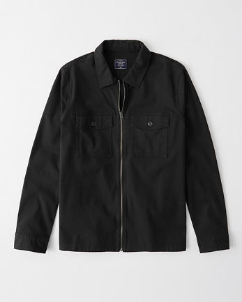 ANFFull-Zip Shirt Jacket