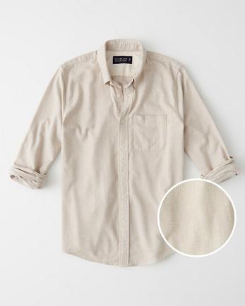 ANFTextured Flannel Shirt