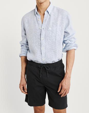 We Mannen Overhemd.Heren Linnen Overhemden Abercrombie Fitch