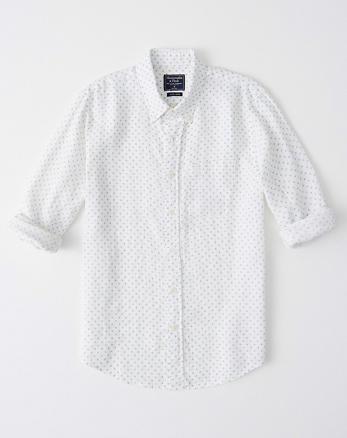 Wit Linnen Overhemd Korte Mouw.Heren Linnen Overhemden Abercrombie Fitch