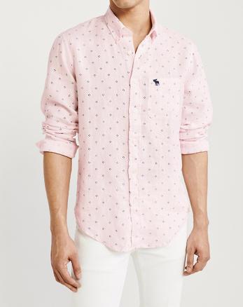 fe1273b166 ... Camisa de lino con botones e ícono