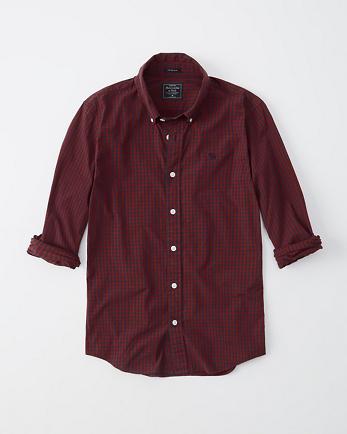 ANFSuper Slim Icon Poplin Shirt