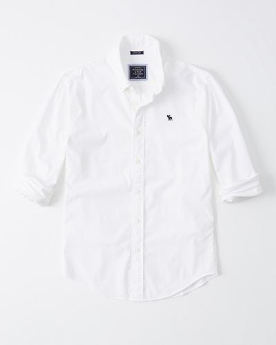 Super Slim Poplin Shirt | Tuggl