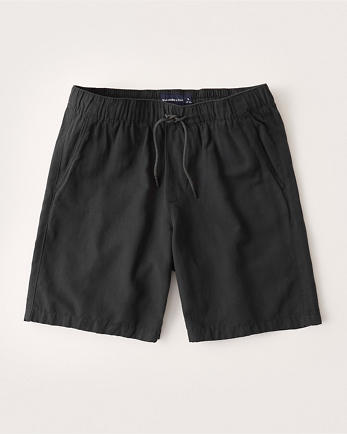 ANFLinen-Blend Pull-On Shorts