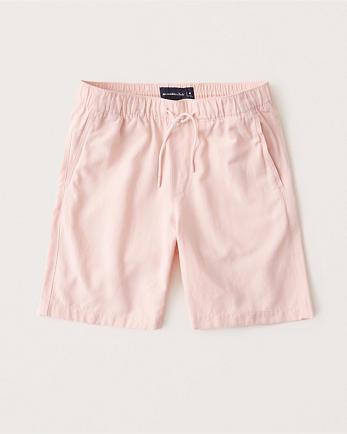 ANFLinen-Blend Pull-On Shorts