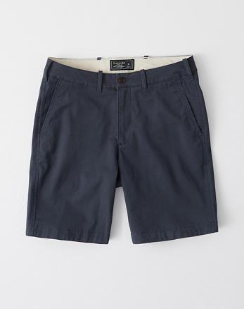 64a7879c48009c Shorts mit schlichter Vorderseite, MARINEBLAU
